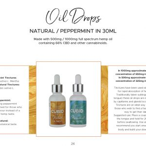 CUBID CBD Peppermint Oil Drops 500mg-1000mg 30ml